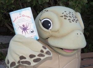 Even Gumbo Limbo Sea Turtle Rescue's mascot, Luna, is reading The Soul of an Octopus! Could The Soul of a Sea Turtle be next?