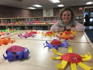a library full of little octopuses at the Franklin Elementary School in Keene, New Hampshire